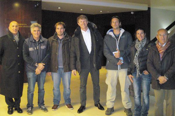 L'équipe du YCVL avec Jean-Pierre Dick